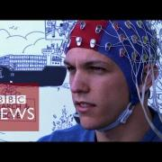 Brain-controlled drone shown off - BBC News